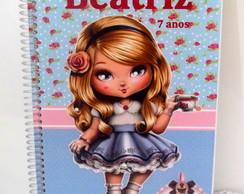 Caderno Personalizado no tema Jolie