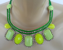 Maxi colar Verde de Pedrarias