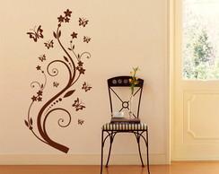Adesivo Decorativo galho e borboletas