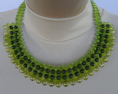 Maxi colar Verde de P�rolas