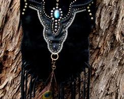 Bolsa Eagle em camur�a Negra