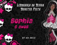 FOTO LEMBRAN�A COM IM� - MONSTER HIGH