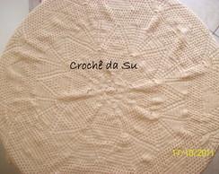 Toalha para mesa redonda em croch�