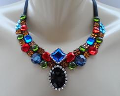 Maxi colar Colorido de Pedras