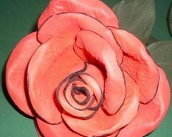 Rosa Eva Vermelha P Com Bordas Pretas