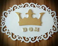Placa para decora��o em mdf