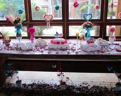 Kit Mesa de bolo Noiva completa I