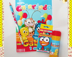 Kit Colorir + Bolha De Sab�o Galinha