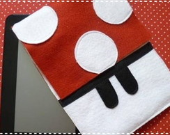 Case Ipad/ Tablet Cogumelo Mario Bros