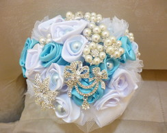 Buqu� de Broches Azul Tiffany