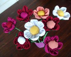 flores do campo em tecido