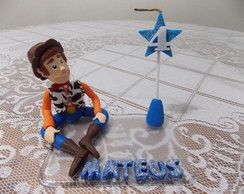 Topo de Bolo Woody Toy Story