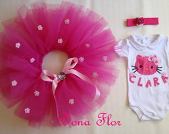 Conjunto tutu da hello kitty
