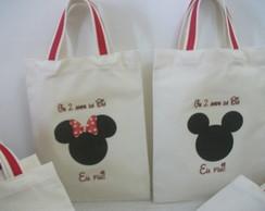 Sacolinha Ecologica Mickey e Minie