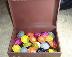 Caixa porta c�psulas de caf� expresso