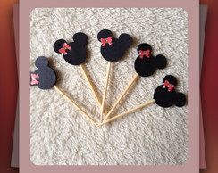Toppers para doces Minnie e Mickey