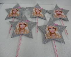 Vareta para bexigas com Barbie