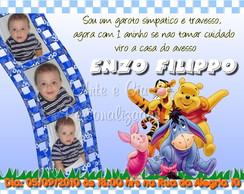 Convite Personalizado - Ursinho Pooh
