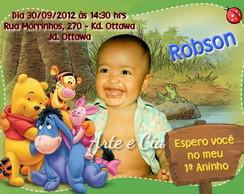 Convite Personalizado - Ursinho Pooh 3