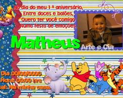 Convite Personalizado - Ursinho Pooh 4
