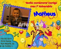 Convite Personalizado - Ursinho Pooh 5