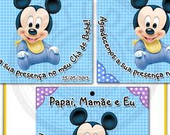 Arte Tag lembrancinha Baby Disney Mickey