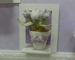 Quadro com vaso de flores