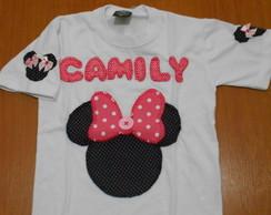 Camiseta Minnie Rosa (Fam�lia)