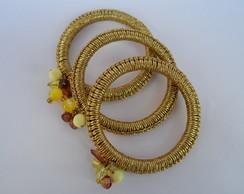 Mix de Pulseiras Dourada