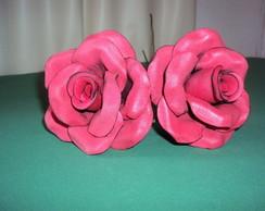 Rosa EVA Vermelha M com Bordas Pretas
