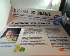 Convite Jornal Galinha Pintadinha