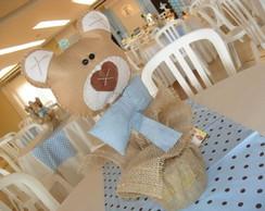 Arranjo de mesa para festa urso!