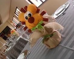 Arranjo de mesa para festa de safari!