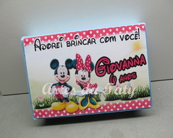 Estojo 39 pe�as mickey e minie