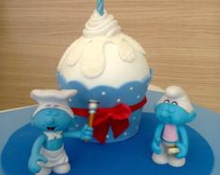 Topo de Bolo de Cupcakes
