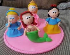 Topo de bolo Princesas Baby