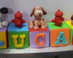 Cubos cachorrinhos! Topo de bolo