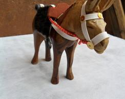 Cavalo de Madeira C/ Arreio