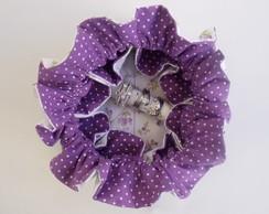 Porta joia em tecido floral