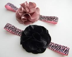 Headband zebra rosa