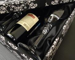 Caixa para Mini Chandon ou Vinho e Ta�as