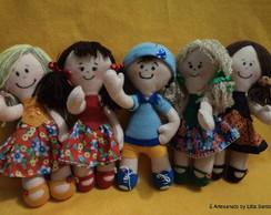 Boneca  e boneco em feltro