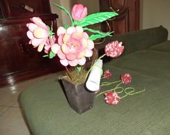 Vaso de flor com mensagem