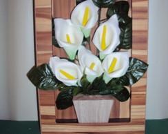 Quadro Flor De Eva Copo de Leite P