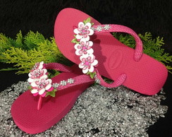 Havaiana Decorada Pink