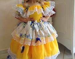 Vestido Caipira Corpo Lastex