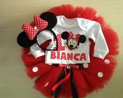 Conjunto Minnie Vermelha 2