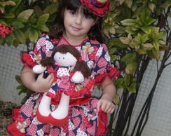Roupa Festa Junina com boneca