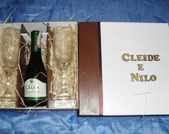 Caixa Para Mini Chandon E Duas Ta�as