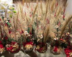 Arranjo flores secas na cumbuca II